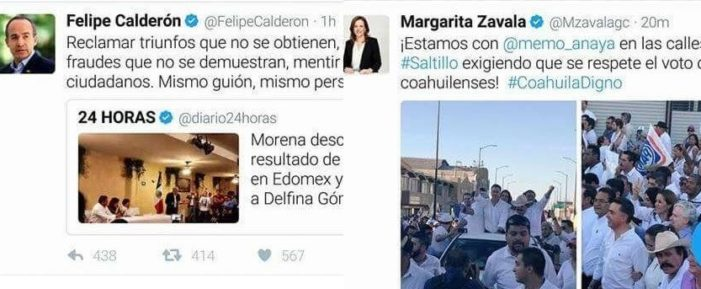 Calderón descalifica voto x voto en Edomex, su esposa pide voto x voto en Coahuila