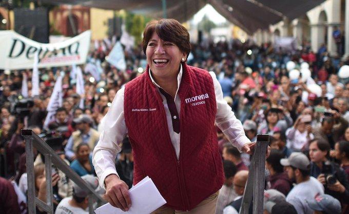Ganó Delfina Gómez con 72,760 votos por arriba de Alfredo del Mazo