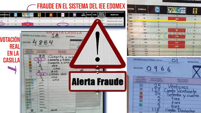 Denuncian que el PREP de Edomex agregó 241 mil votos de más a Del Mazo