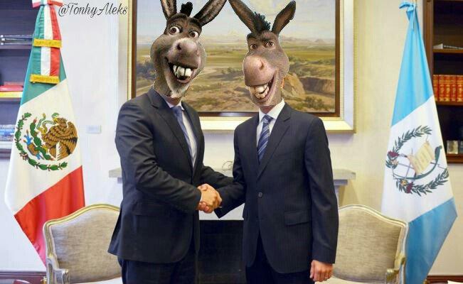 Memes sobre encuentro de Peña Nieto con Jimmy Morales en Guatemala