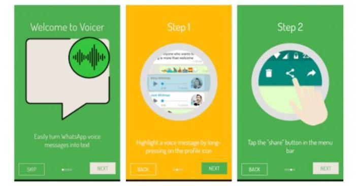Convierte en texto los audios de WhatsApp