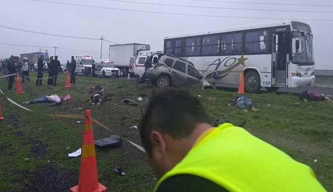 Accidente en Circuito Exterior Mexiquense deja 6 muertos