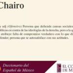 Colmex define significado de 'Chairo'
