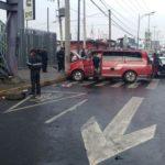 Así embistió camioneta a transporte escolar en donde murió un niño en Eje 6 Sur