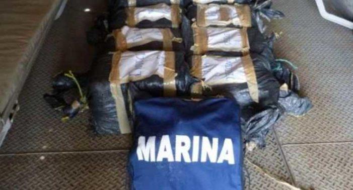 Encuentran 212.5 kg de cocaína que flotaba en mar de Chiapas