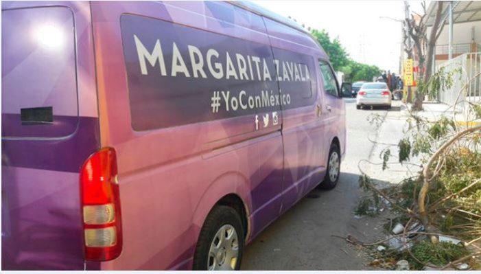 Encañonan y roban a equipo de avanzada de Margarita Zavala en Sinaloa
