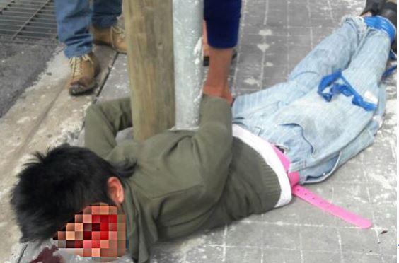 Intentaron linchar a dos presuntos secuestradores en Puebla