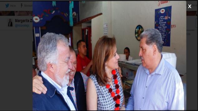 Margarita Zavala se encuentra con Alejandro Encinas en Zacatecas