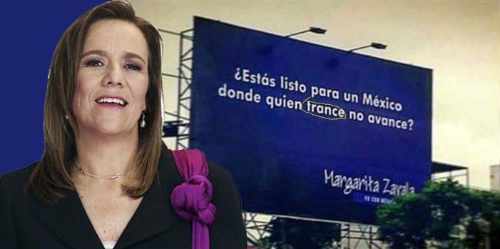 Margarita Zavala lanza campaña con faltas de ortografía, y su asesora es una editora de libros