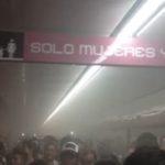 Desalojaron Metro Insurgentes por cortocircuito (VIDEO)