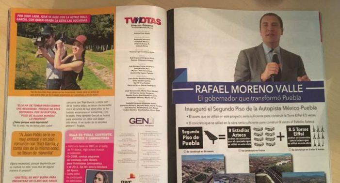 Sanciona a empresa que promocionó a Moreno Valle en TV Notas y TV de paga