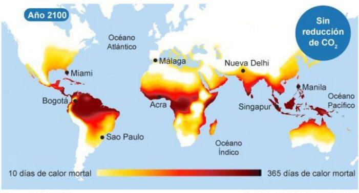 Calentamiento global producirá olas de calor mortales