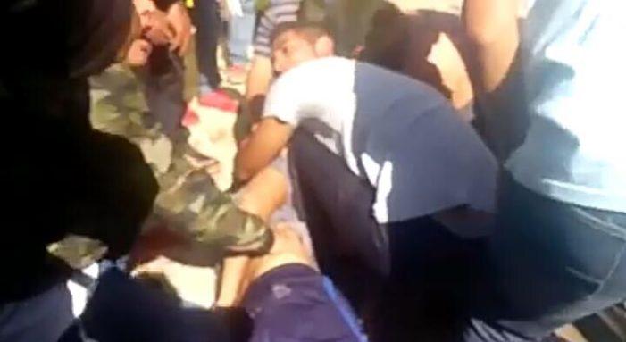 PolicíaEstatal de Michoacán disparan contra estudiantes de Tiripetio