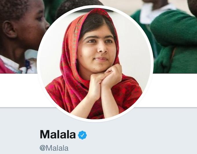 Malala abre cuenta en Twitter: 'Lucho por las niñas ¿quien se me une?'