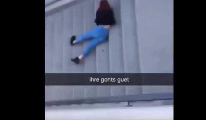 Joven cae de puente de 4 metros por jugar 'el piso es lava' (video)