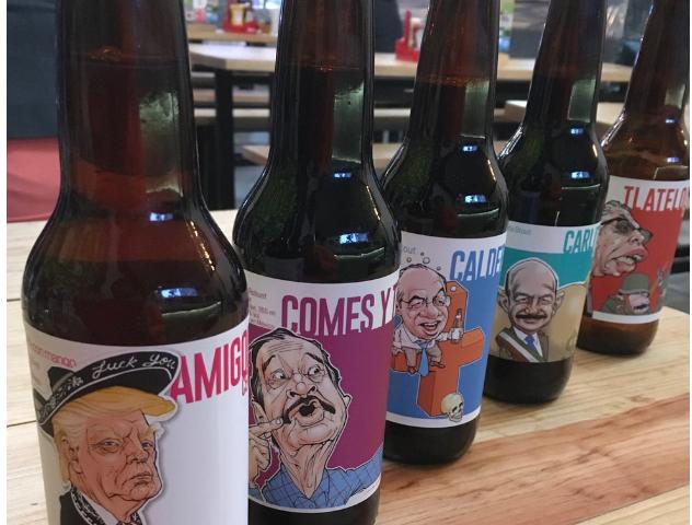 Satirizan a políticos mexicanos en etiquetas de cervezas