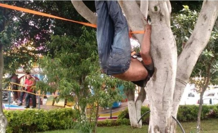 Cuelgan y golpean a hombre en Tlaxcala