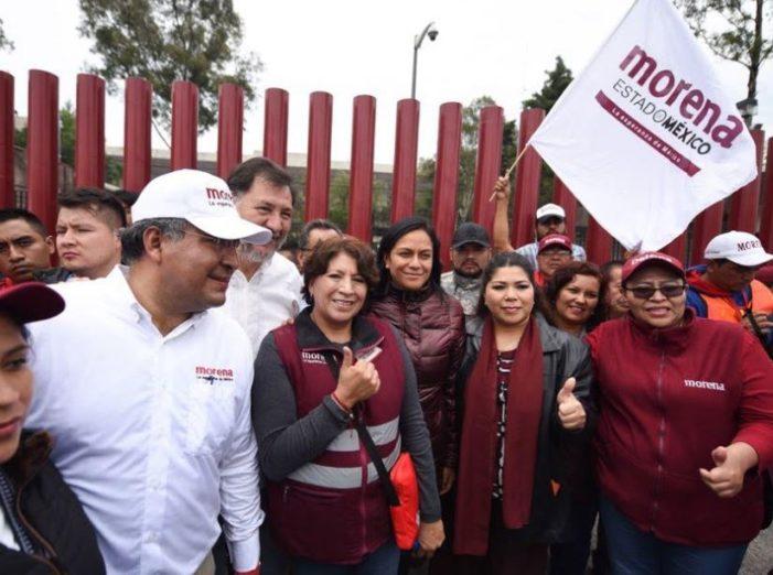 Marcha por la Esperanza de Delfina Gómez, llegó a la Cámara de Diputados