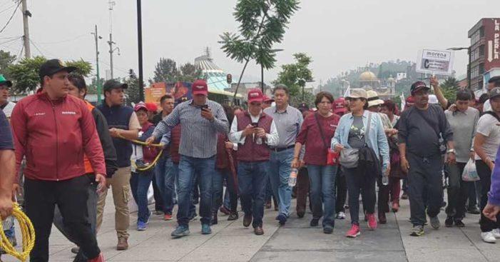Delegado de GAM impide a Delfina Gómez entrar a la Basílica de Guadalupe