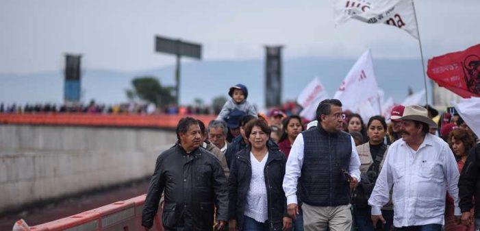 Delfina Gómez inició 'Marcha de la Esperanza'; hoy llega a la Cámara de Diputados
