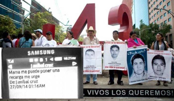 Confirman que celulares de los 43 estuvieron 'activos' tras desaparición