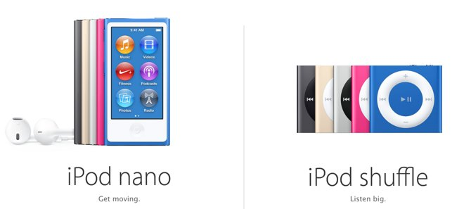 Apple dice adiós al iPod nano y iPod shuffle
