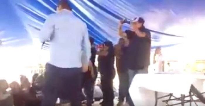 Perredistas boicotean acto de Claudia Sheinbaum en Iztacalco