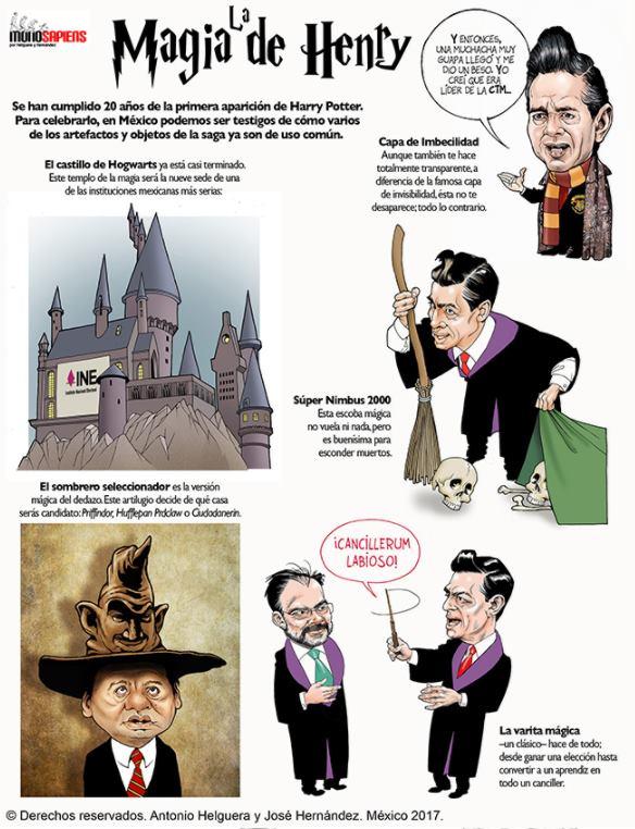 'La magia de Henry' (Cartón de Helguera y Hernández)
