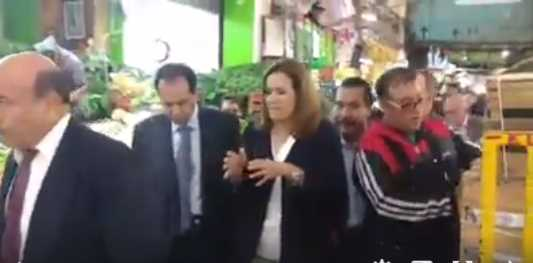 Margarita Zavala es ignorada y después abucheada en Central de Abastos (video)