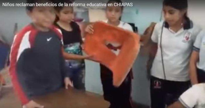 Niños llaman 'demagogo' a Nuño por incumplir 'promesas' de Reforma Educativa (video)