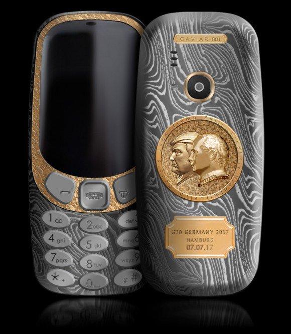 Lanzan Nokia 3310 edición Vladimir Putin y Donald Trump