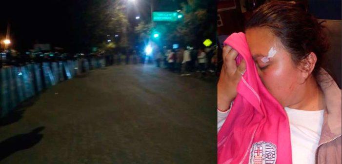 Policías desalojan a normalistas de Panotla, Tlaxcala