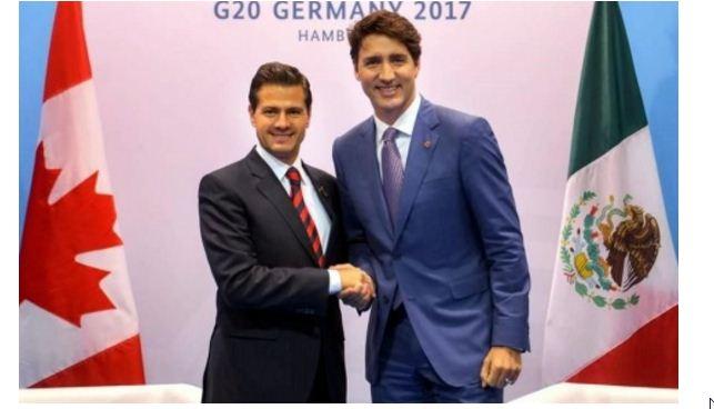 Peña se reúne con primer ministro de Canadá, promete un buen acuerdo de TLCAN