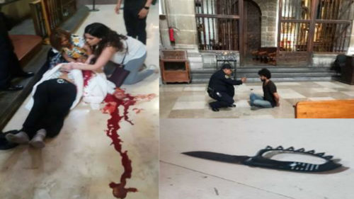 Reportan estable a sacerdote apuñalado en Catedral Metropolitana
