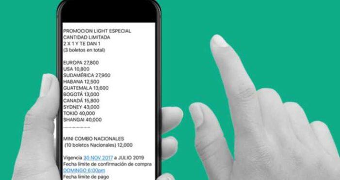 Estafan vendiendo boletos de avión por Whatsapp, alerta Aeroméxico