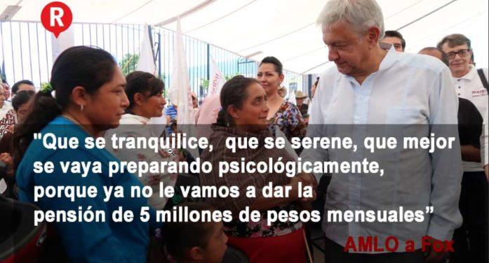 Que se prepare psicológicamente Vicente Fox, ya no recibirá pensión millonaria: AMLO