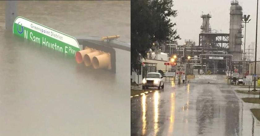 Explotó una planta química tras el paso del huracán Harvey — Texas