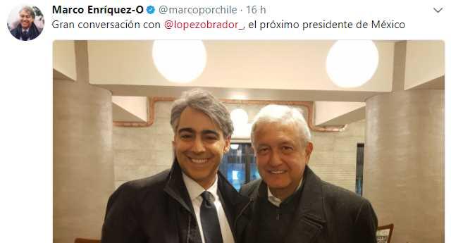 Candidato presidencial de Chile llama a AMLO 'próximo presidente de México'