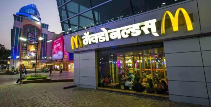 McDonald's cierra 40% de sus restaurantes en India