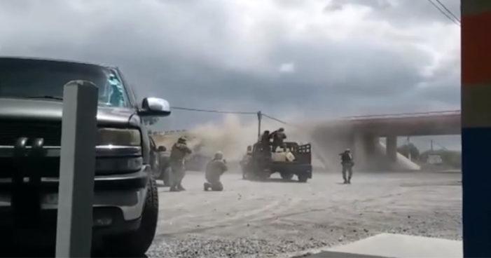 Reynosa: Militares y hombres armados se enfrentan en balacera (Video)