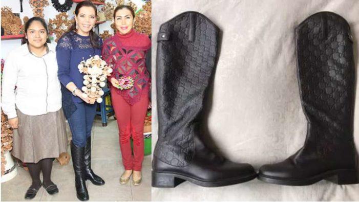 Prima de EPN y del Mazo presume botas Gucci de miles de pesos