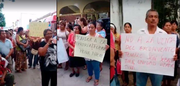 Habitantes de Chiapa de Corzo rechazan visita de Peña Nieto por 'traidor a la patria'