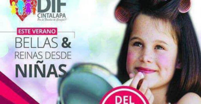 DIF da curso de belleza a niñas de Cintalapa, municipio con gran rezago social en Chiapas