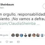 Claudia Sheinbaum expresa orgullo, responsabilidad y agradecimiento en redes