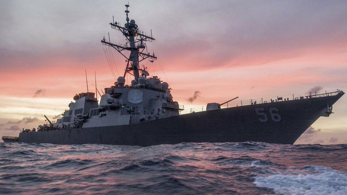 Desaparecen 10 marineros EE.UU. por choque destructor y barco petrolero
