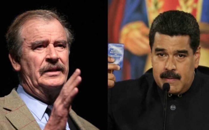 Vicente Fox desea renuncia o muerte de Nicolás Maduro, pide 'derrocarlo'