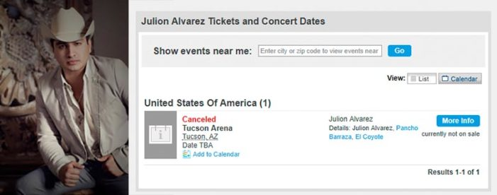 ¿Buena o mala noticia? cancelan concierto de Julión Álvarez en Estados Unidos