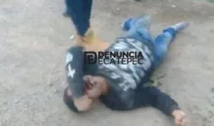 Linchan a ratero luego de matar a pasajero y herir a dos personas más en la México-Pachuca