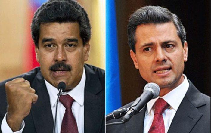 'Yo no soy un perro echado', si gobernara México no permitiría el muro: Maduro