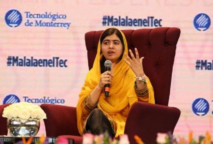 Malala recomienda a los jóvenes alzar la voz y hacer un cambio; reprueba muro de Trump